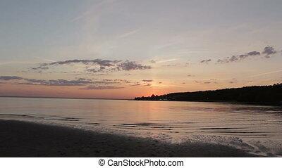 Beautiful Sunset Sky on the Beach