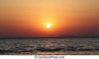 Beautiful sunset with sea