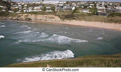 Beautiful surfing beach Cornwall uk - Beautiful surfing...