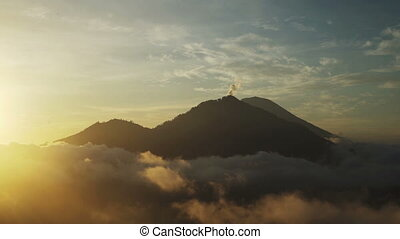 Beautiful surise in the mountains, volcanoes - Mountains,...