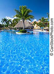 swimming pool  - Beautiful swimming pool in caribbean