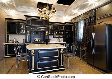 kitchen in a modern apartment