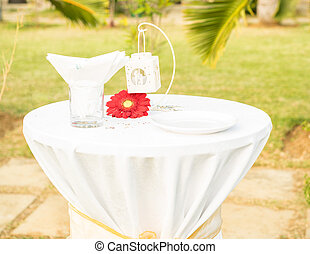Beautiful table set fot wedding