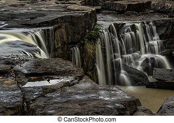 Beautiful Tat Ton Waterfall is a landmark of Tat Ton National Park, Chaiyaphum Province, Thailand.