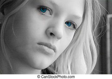 Beautiful teen - beautiful teen with stunning blue eyes