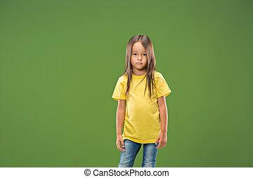 Beautiful teen girl looking sad and bewildered