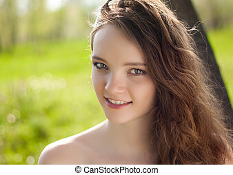 beautiful teen girl portrait outdoor
