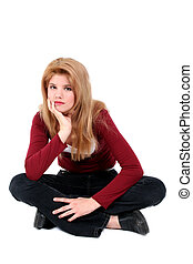 Teen Girl Sitting