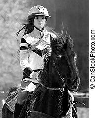 Beautiful Teen Riding a Horse