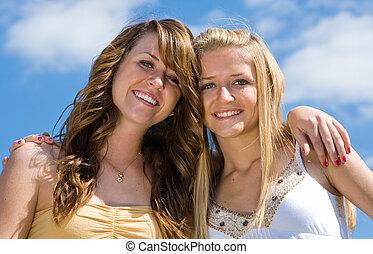 Beautiful Teen Sisters