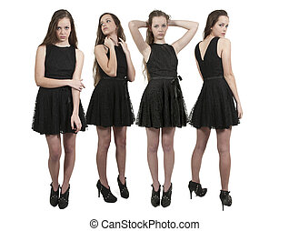 Beautiful Teenage Women - Group of quadruplet young ...