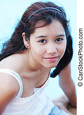 Beautiful teenaged girl from Thailand - Young Thai girl with...