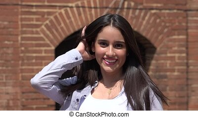 Beautiful Teenager Smiling And Posing