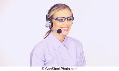 Beautiful telesales lady