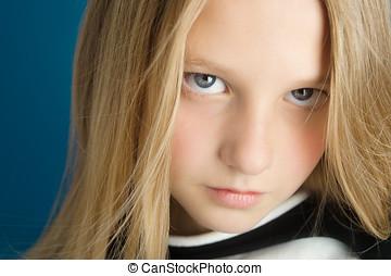 Beautiful Ten Year Old Girl - Dreamy portrait of a beautiful...