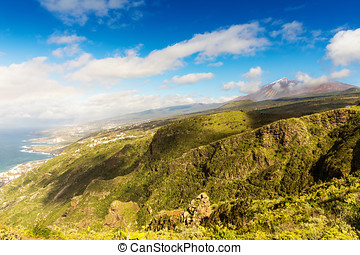 beautiful Tenerife mountain landscape on sunny summer day