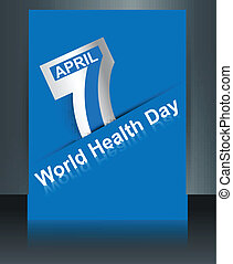 Beautiful text 7 April world health day reflection brochure background template vector