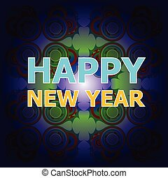 Beautiful text design of Happy New Year on abstract background. vector illustration