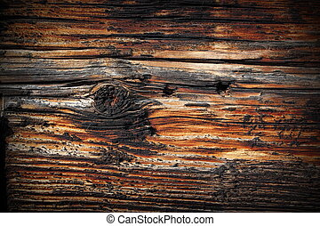 beautiful texture of old spruce plank