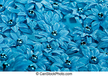 beautiful texture with fabric flowers