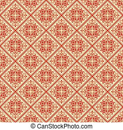 Beautiful texture with red pattern on lemon background