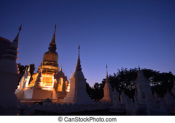 north temple - Beautiful Thai north temple , Chiang Mai,...