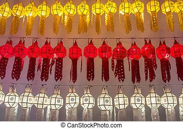 Beautiful thai style lantern, Chiang Mai, Thailand