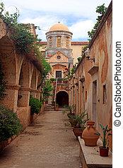 beautiful The Monastery of Agia Triada in Crete, Greece