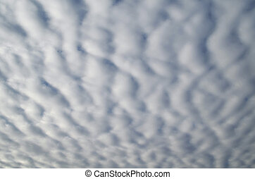 Beautiful thick lush clouds in the sky