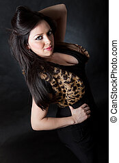 Beautiful thirties hispanic woman