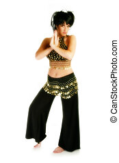 Beautiful Thirty Year Old Woman In Belly Dancer Costume