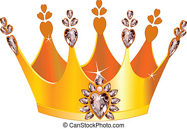 Beautiful tiara - Illustration of beautiful gold tiara