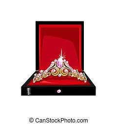 Beautiful tiara in a gift box