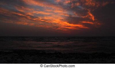 Beautiful timelapse Sea Sunrise