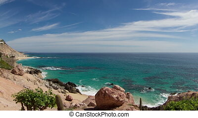 beautiful timelapse shot in los cabo, baja california sur...