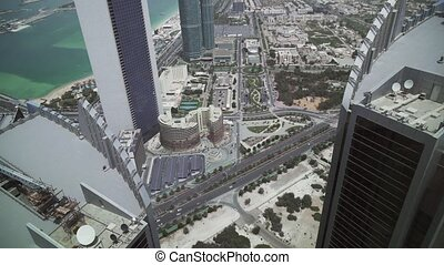 Beautiful top view of Abu Dhabi stock footage video -...