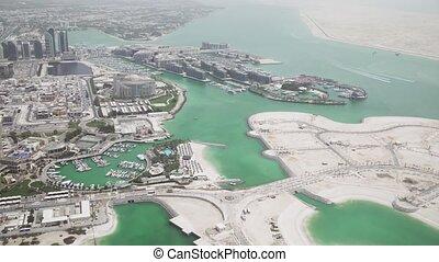 Beautiful top view of Abu Dhabi stock footage video -...