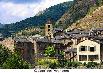 Beautiful town of Ordino in Andorra
