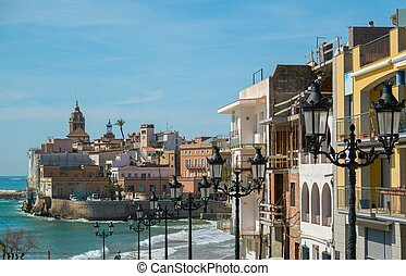 Beautiful town of Sitges, Spain