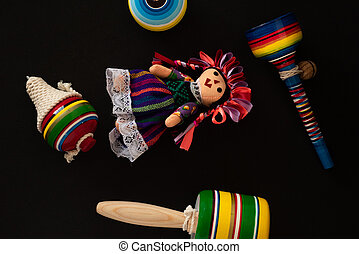 Beautiful Traditional colorful Mexican Handcraft toys
