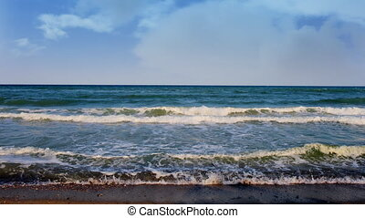beautiful tranquil shot at sunset, karadere beach, bulgaria,