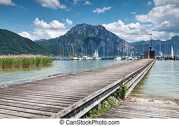 Beautiful Traunsee lake in Austria