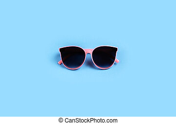 sunglasses isolated on a pink background