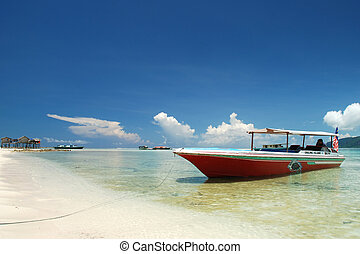 beach - Beautiful tropical beach in Semporna, Sabah Malaysia