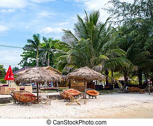 Beautiful tropical beach in Sihanouk Ville, Cambodia