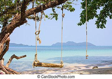 Beautiful tropical beach at island Koh Wai , Thailand .