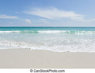 beautiful tropical beach, turquoise water and white sand