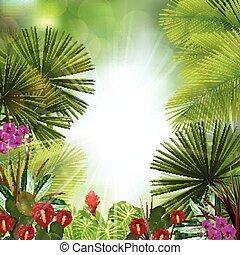 Beautiful tropical