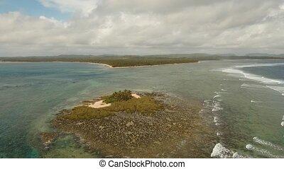 Beautiful tropical island. - aerial footage tropical island...