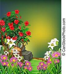 Beautiful Tropical Ivy Plants Cartoon Set